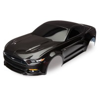 TRAXXAS - BODY FORD MUSTANG BLACK (PAINTED, DECALS APPLIED) 8312X