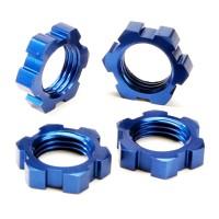 TRAXXAS - WHEEL NUTS SPLINED 17MM (BLUE-ANODIZED) (4) 5353