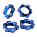 TRAXXAS - WHEEL NUTS SPLINED 17MM (BLUE-ANODIZED) (4) 5353