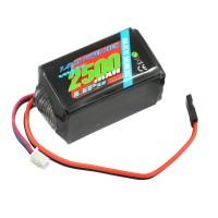 VOLTZ - 2500MAH 2S 7.4V RX LIPO HUMP BATTERY PACK VZ0271