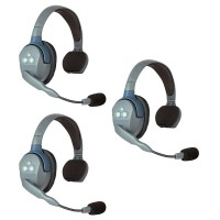 EARTEC - UltraLITE 2 PERSON SYSTEM (W/3 SINGLE HEADSETS, BATT/CHARG) UL3S