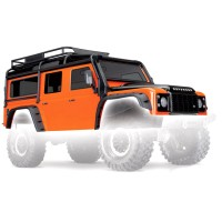 TRAXXAS - CARROSSERIE LAND ROVER DEFENDER ADVENTURE ORANGE PEINTE ET DECOREE 8011A