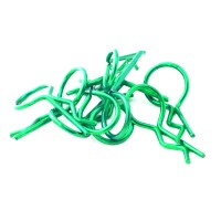HOBBYTECH - UNIVERSAL 1/10EME GREEN BODY CLIPS (10PCS) HT-501381V