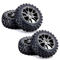 KYOSHO - KC TYRES ON NEO 3.0 WHEELS GUN METAL (4) *UNPACKAGED* IFTH004GMKC