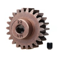 TRAXXAS - HARDENED STEEL MOD 1.0 PINION GEAR W/5MM BORE (22T) 6495X