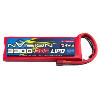 NVISION - BATTERIE NVISION LIPO 2S-7.4V-3300-30C - DEANS NVO1805