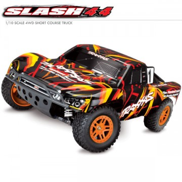 TRAXXAS - SLASH 4X4 BRUSHED TQ 2.4GHZ ID RTR 68054-1
