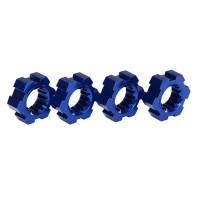TRAXXAS - HEXAGONES DE ROUES ALU ANODISES BLEU (4) 7756X