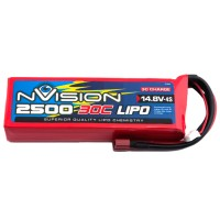 NVISION - LIPO 4S-14.8V-2500-30C - DEANS NVO1814