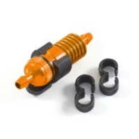 FASTRAX - FILTRE A CARBURANT ORANGE 1/8 AVEC SUPPORT & CLIP DURITE FAST932O