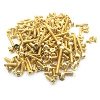 T-WORK'S - GOLD PLATED STEEL SCEW SET FOR KYOSHO MP9E EVO GSS-MP9E