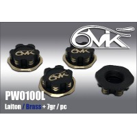 6MIK - 1/8 BRASS NUTS BLACK & GOLD (4PCS) PW0100L
