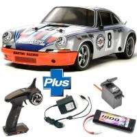 TAMIYA - PACK READYSET RC TT-02 PORSCHE 911 CARRERA RSR KIT 58571L