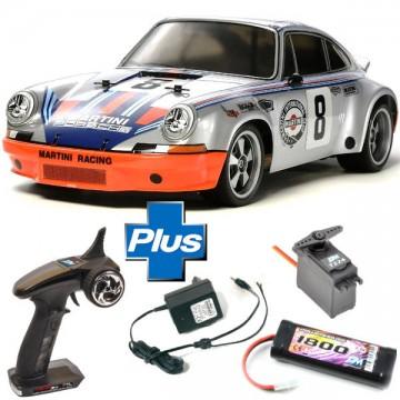 TAMIYA - LOT COMPLET RC TT-02 PORSCHE 911 CARRERA RSR KIT 58571L