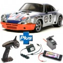 TAMIYA - LOT COMPLET RC TT-02 PORSCHE 911 CARRERA RSR KIT 58571L