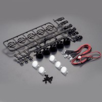 FASTRAX - BLACK 5-SPOT LIGHT UNIVERSAL CLUSTER MOULDED SET W/LED'S FAST302-1B