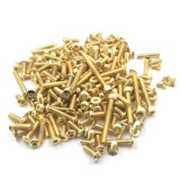 T-WORK'S - GOLD PLATED STEEL SCEW SET FOR KYOSHO MP10 (160PCS) GSS-MP10