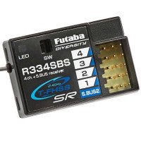 FUTABA - R334SBS TFHSS SR S.BUS2 HV 4-CHANNEL 2.4GHZ RECEIVER