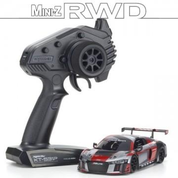 KYOSHO - MINI-Z RWD AUDI R8 LMS 2015 GRAY-RED (W-MM/KT531P) 32323RGB