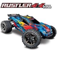 TRAXXAS - RUSTLER 4x4 1/10 VXL BRUSHLESS TSM - W/O BAT/CH 67076-4