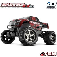 TRAXXAS - STAMPEDE 4X4 ROUGE VXL TSM RTR (SANS ACCU/CHARGEUR) 67086-4-RED