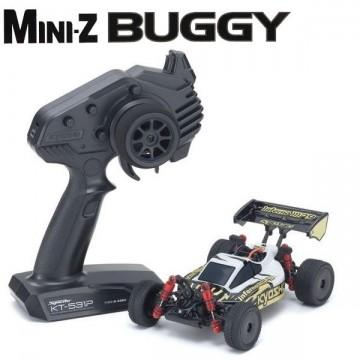 KYOSHO - Mini-Z MB010 4WD 1/24 INFERNO MP9 TKI3 BLANC/NOIR - READYSET 32091WBK