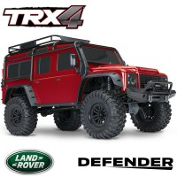 TRAXXAS - TRX-4 LAND ROVER DEFENDER ROUGE RTR 82056-4-RED