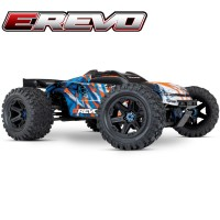 TRAXXAS - E-REVO - 4x4 - ORANGE -1/10 BRUSHLESS - TSM - SANS AQ/CHG 86086-4-ORNG