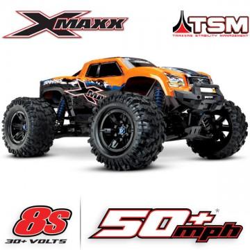 TRAXXAS - X-MAXX ORANGE X 8S 4WD BRUSHLESS RADIO TQI & TSM ID RTR 77086-4-ORNGX