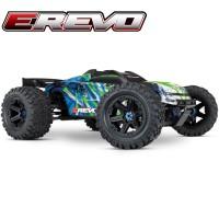 TRAXXAS - E-REVO - 4x4 - GREEN - 1/10 BRUSHLESS - TSM - W/O AQ/CHG 86086-4-GRN