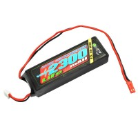 VOLTZ - 2300MAH 2S 6.6V RX LIFE STRAIGHT BATTERY PACK VZ0260