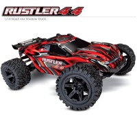 TRAXXAS - RUSTLER 4x4 ROUGE 1/10 STADIUM TRUCK ID TQ 2.4GHZ RTR 67064-1-RED