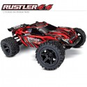 TRAXXAS - RUSTLER 4x4 RED 1/10 STADIUM TRUCK ID TQ 2.4GHZ RTR 67064-1-RED