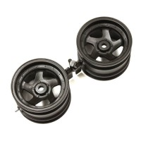 KYOSHO - WHEEL 5 SPOKES 43MM. (2) OPTIMA - BLACK OTH244BK