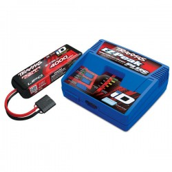 TRAXXAS - BATTERY/CHARGER COMPLETER PACK INCLUDES 2970 ID CHARGER (1) & 286-49X LIPO BATTERY 3S 4000MAH 2994G