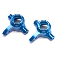 TRAXXAS - STEERING BLOCKS T6 ALUMINIUM LEFT & RIGHT BLUE ANODIZED 6837X