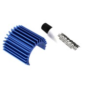 TRAXXAS - HEAT SINK VELINEON 380 BRUSHLESS MOTOR, ALUMINUM (BLUE-ANODIZED) 3374