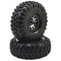 "TRAXXAS - PNEUS CANYON TRAIL BEADLOCK JANTES NOIR CHROMEES METHOD 2.2"" 8172"