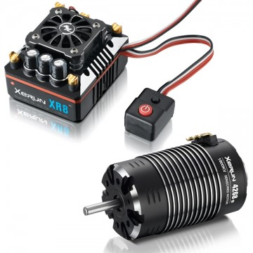 HOBBYWING - COMBO ESC XERUN XR8 PLUS + MOTOR XERUN 4268SD-2200KV BLACK G2 38020424