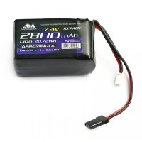 ARROWMAX - BATTERIE LIPO 2S RECEPTION HUMP 2800 - 7.4V AM700913