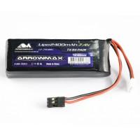 ARROWMAX - LIPO 2400MAH 2S TX/RX (7.4V) FLAT PACK AM700912