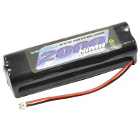 VOLTZ - TX 9.6V 2000MAH NIMH SQUARE BATTERY PACK W/JR/SPECTRUM & PULSE STICK VZ0182