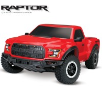 TRAXXAS - FORD RAPTOR F-150- 4x2 RED 1/10 BRUSHED TQ 2.4GHZ - iD 58094-1-RED