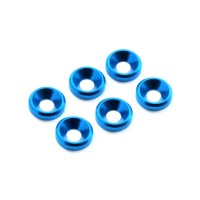 FASTRAX - M3 CSK WASHER BLUE (6) FAST140