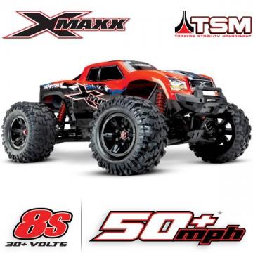 TRAXXAS - X-MAXX RED X 8S 4WD BRUSHLESS RTR MONSTER TRUCK W/2.4GHZ TQI RADIO & TSM 77086-4-REDX