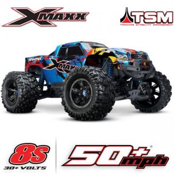 TRAXXAS - X-MAXX ROCK N'ROLL 8S 4WD BRUSHLESS RTR MONSTER TRUCK W/2.4GHZ TQI RADIO & TSM 77086-4-RNR