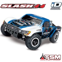 TRAXXAS - SLASH - 4x4 VISION 1/10 BRUSHLESS - TSM - WIRELESS - iD W/O AQ/CHG 68086-4-VISN