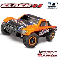 TRAXXAS - SLASH - 4x4 ORANGE 1/10 BRUSHLESS - TSM - WIRELESS - iD W/O AQ/CHG 68086-4-ORNG