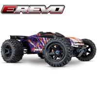 TRAXXAS - E-REVO - 4x4 - PURPLE - 1/10 BRUSHLESS - TSM - W/O AQ/CHG 86086-4-PRPL