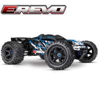 TRAXXAS - E-REVO - 4x4 - BLEU - 1/10 BRUSHLESS - TSM - SANS AQ/CHG 86086-4-BLUE